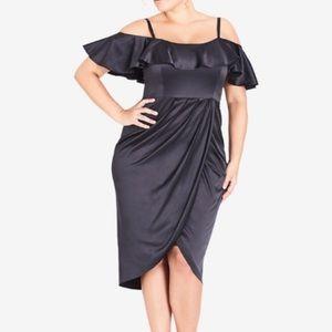 City Chic Ruffle off shoulder Dress